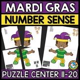 MARDI GRAS MATH ACTIVITY (TEEN NUMBER KINDERGARTEN CENTER) FEBRUARY MORNING WORK