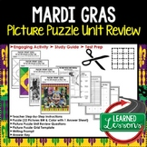 MARDI GRAS Picture Puzzle Review Activity (Louisiana History)