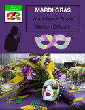 MARDI GRAS Word Search Puzzle - Fat Tuesday - Early Finisher - medium