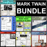 MARK TWAIN BUNDLE Research Project Biography Graphic Organizers