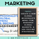 MARKETING- McDonald's Global Menu Item & Pricing
