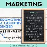 MARKETING - PROMOTING A COUNTRY SINGER & Publicity