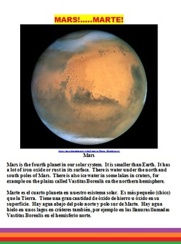 MARS MATH, SCIENCE AND LITERACY FUN!  (ON SALE, CCSS, ESL, SPANISH TOO, 64 PP)