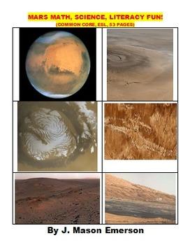 MARS MATH, SCIENCE AND LITERACY FUN!  (ON SALE, CCSS, ESL,