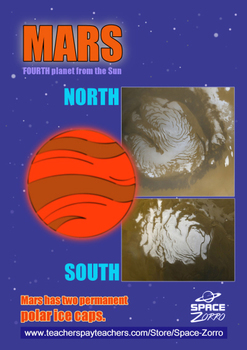 MARS POSTER ( polar caps )