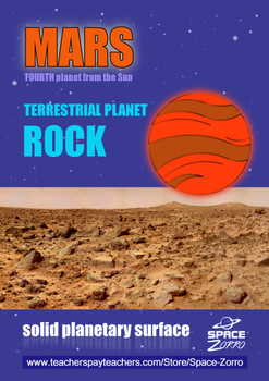 MARS POSTER ( terrestrial and rocky planet )