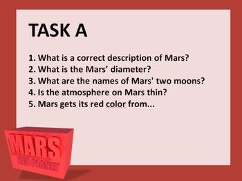 MARS RED PLANET SET