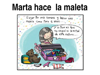 MARTA HACE SU MALETA