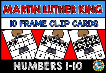 MARTIN LUTHER KING ACTIVITIES: MLK TEN FRAMES CLIP CARDS: PRE K 10 FRAMES CENTER