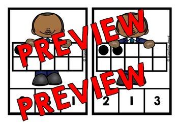 MARTIN LUTHER KING ACTIVITY KINDERGARTEN (MLK DAY TEN FRAMES CENTER CLIP CARDS)
