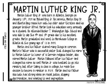 MARTIN LUTHER KING JR. BIOGRAPHY BOOK