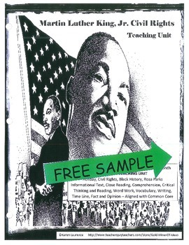 MARTIN LUTHER KING Civil Rights Black History Holiday FREE