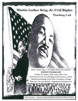 MARTIN LUTHER KING Civil Rights Black History Holiday Teac