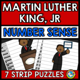 MARTIN LUTHER KING JR ACTIVITIES KINDERGARTEN (NUMBER SENSE CENTER PUZZLES)