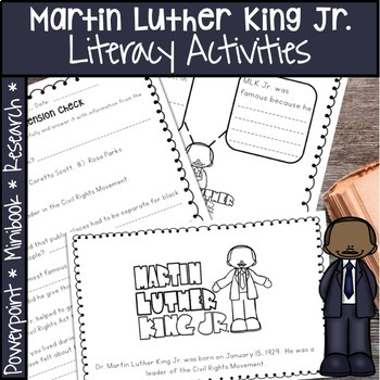 MARTIN LUTHER KING JR.  BLACK HISTORY MONTH ACTIVITIES, PROJECT, AND MORE