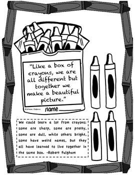 MARTIN LUTHER KING JR.  (BOX OF CRAYONS)
