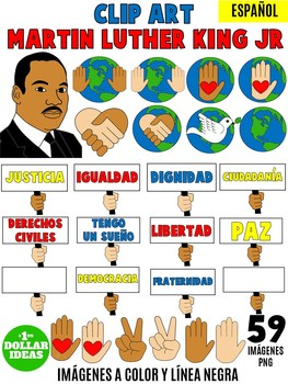 MARTIN LUTHER KING ACTIVITIES| BLACK HISTORY MONTH ACTIVITIES | SPANISH CLIPART