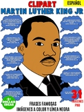 MARTIN LUTHER KING ACTIVITIES| BLACK HISTORY MONTH | FRASES FAMOSAS CLIPAR