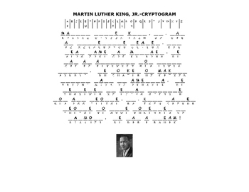 MARTIN LUTHER KING, JR.- CRYPTOGRAM