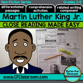 Martin Luther King Jr reading passages and comprehension q