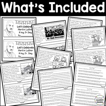 MARTIN LUTHER KING JR. DAY Flip Book!  All About MLK DAY and More! FREEBIE