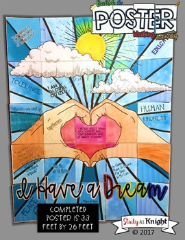 """MARTIN LUTHER KING JR, """"I HAVE A DREAM"""" COLLABORATIVE POSTER, WRITING ACTIVITY"""