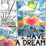 "Martin Luther King Jr, ""I Have a Dream"" Collaborative Poster, Writing Activity"