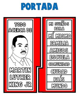 MARTIN LUTHER KING ACTIVITIES| BLACK HISTORY MONTH | lAPBOOK |  ESPAÑOL