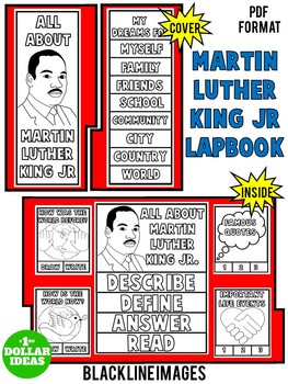 MARTIN LUTHER KING ACTIVITIES| BLACK HISTORY MONTH ACTIVITIES | LAPBOOK
