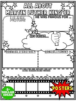 MARTIN LUTHER KING JR ACTIVITIES | BLACK HISTORY MONTH ACTIVITIES | POSTER
