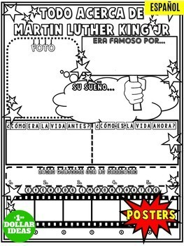 MARTIN LUTHER KING ACTIVITIES| BLACK HISTORY MONTH ACTIVITIES | POSTER | ESPAÑOL