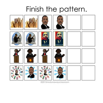 MARTIN LUTHER KING, JR. Patterns