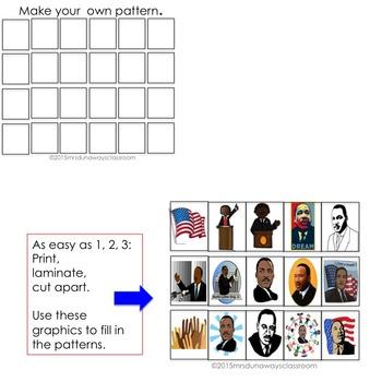 MARTIN LUTHER KING, JR. Patterns