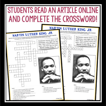 MARTIN LUTHER KING JR DAY CROSSWORD PUZZLE