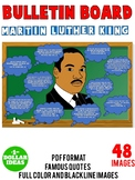 MARTIN LUTHER KING JR FAMOUS QUOTES BULLETIN BOARD|MLK