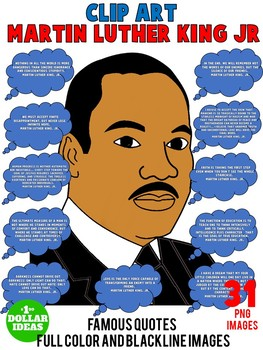 MARTIN LUTHER KING ACTIVITIES  BLACK HISTORY MONTH   FAMOUS QUOTES CLIPART