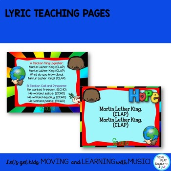 """Orff Song: """"Martin Luther King Jr."""" Form Lesson, Sheet Music, Mp3 Tracks"""