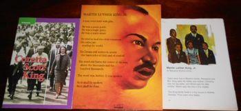 MARTIN LUTHER KING JR - Set of 3 - Book pb, Story, Poem Po