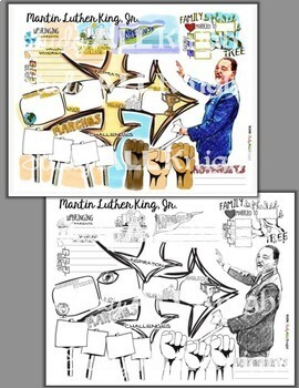MARTIN LUTHER KING JR, WRITING ACTIVITY, TIMELINE, SKETCH NOTES, TEACHER LESSON