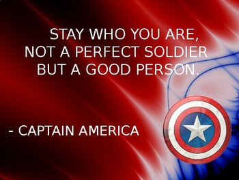 MARVEL Superheroes Inspirational Quotes