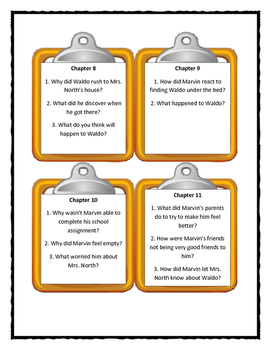 MARVIN REDPOST: ALONE IN HIS TEACHER'S HOUSE Discussion Cards