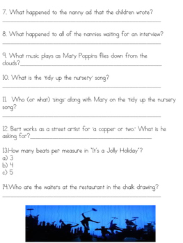 """MARY POPPINS MOVIE GUIDE! GREAT """"BACK TO SCHOOL"""" ACTIVITY!"""