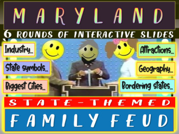 MARYLAND FAMILY FEUD! Engaging game about cities, geography, industry & more