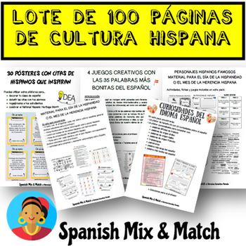MÁS DE 100 PÁGINAS DE ACTIVIDADES - MES DE LA HERENCIA HISPANA (LOTE/BUNDLE)