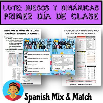 MÁS DE 40 PÁG. DE JUEGOS E IDEAS PARA LOS PRIMEROS DÍAS DE CLASE (LOTE/BUNDLE)