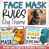 MASK RULES (COVID 19) DOG THEME SAFETY POSTERS DISPLAY PRI