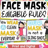 MASK RULES (COVID 19) SAFETY POSTERS CLASS DECOR DISPLAY P