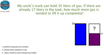 MASS AND VOLUME WORD PROBLEM SMARTBOARD LESSON