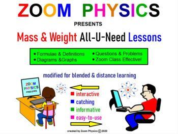 MASS & WEIGHT PHYSICS MECHANICS: Equations, diagrams, prob