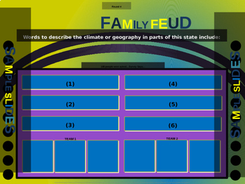 MASSACHUSETTS FAMILY FEUD Engaging game about cities, geography, industry & more